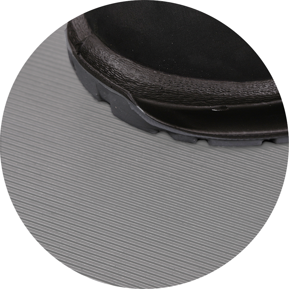 Fine Ribbed Mats Grey Rubber Mats Flooring Mats