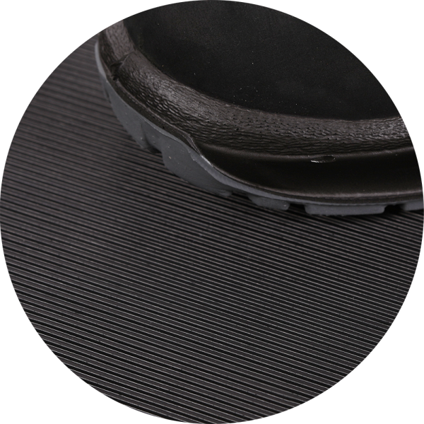 fine ribbed mats black