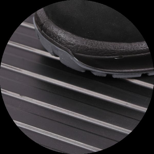 wide ribbed mats black